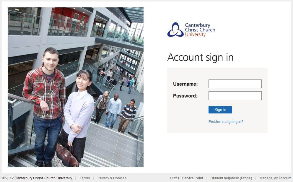 Canterbury Christ Church University login