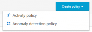 Office 365 Advanced Security Management activity policy