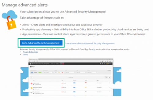 O365 Advanced Security Management advanced alerts