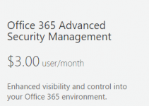 Office 365 Advanced Security Management costs