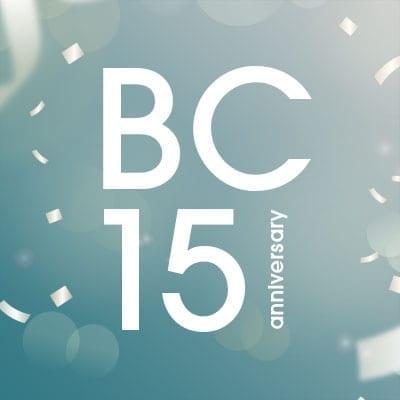 BC 15-year anniversary
