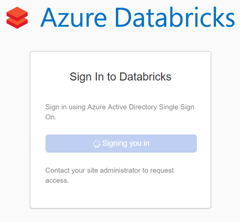 Sign In to Databricks